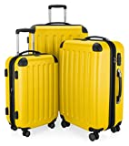 HAUPTSTADTKOFFER Spree Luggages Set Lightweight Spinner luggage (20', 24' & 28') Yellow