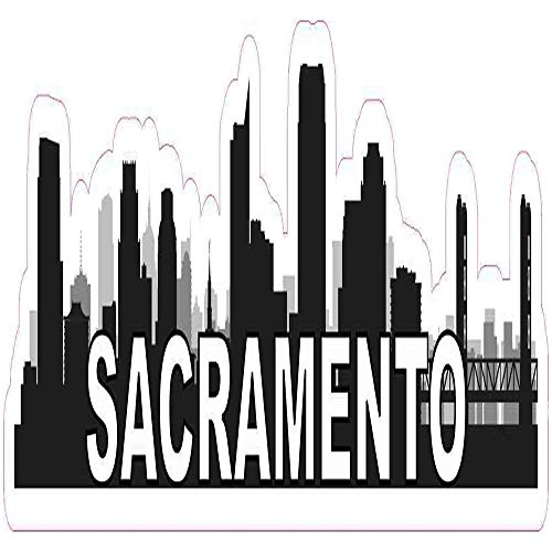 Ross Stores Sacramento Skyline Vinyl Travel - Sticker Graphic - Auto, Wall, Laptop, Cell, Truck Sticker for Windows, Cars, Trucks (Sacramento Outdoor Stores)
