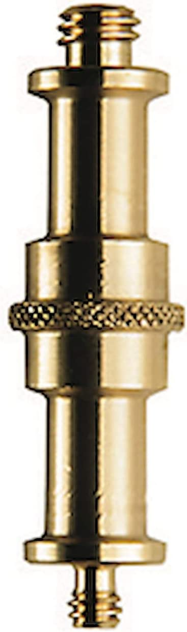 Manfrotto 013 - Espiga adaptadora doble (macho 16 mm, tornillos 1/4