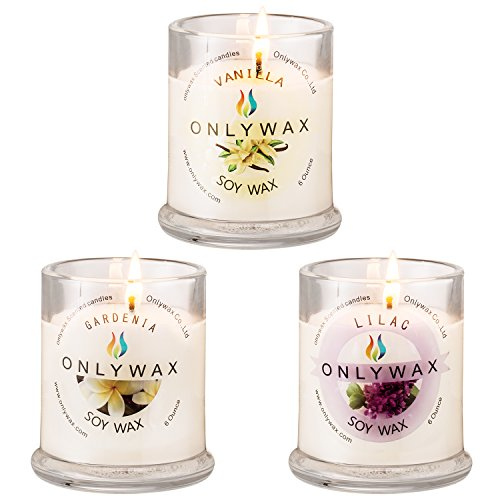 Onlywax 3 PACK All Natural Soy Wax Aromatherapy...