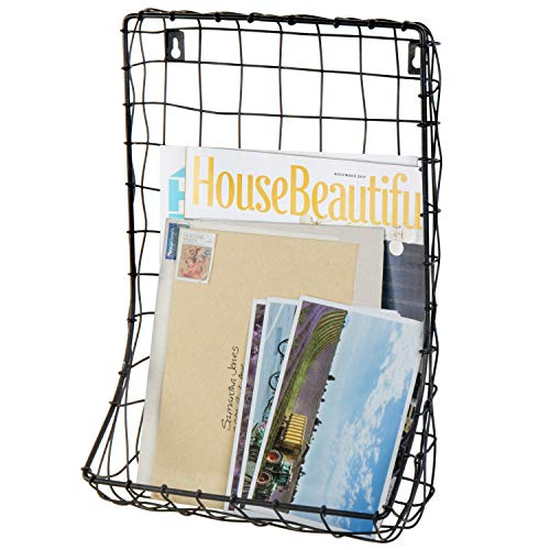 MyGift Wall-Mounted Hand Woven Wire Magazine ()