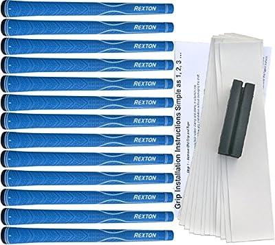 Rexton V-Line Blue Standard Golf Grip Kit (13 Grips, Tape, Clamp)