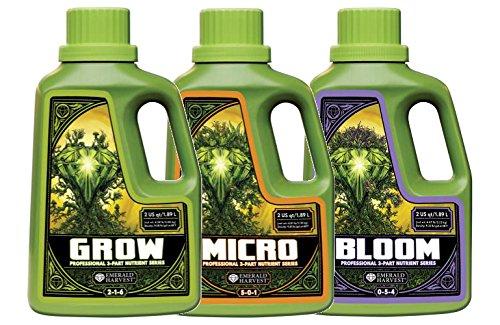 Emerald Harvest Grow, Micro, Bloom Fertilizer Combo, 1.9 L