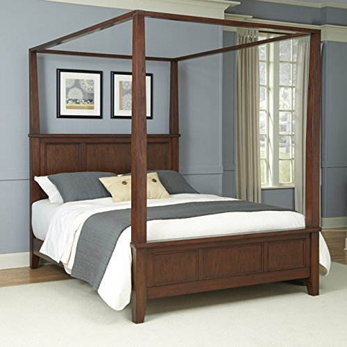 (Chesapeake Classic Cherry King Canopy Bed by Home Styles)
