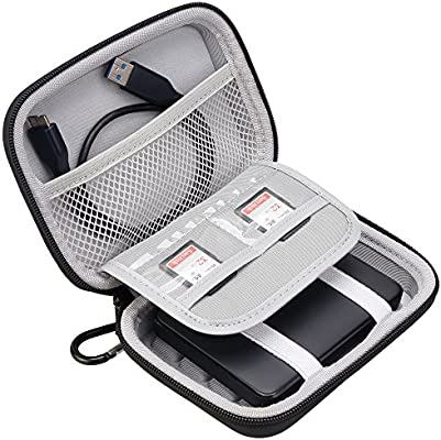 Lacdo Hard Shockproof Carrying Case for Toshiba Canvio Basics/Toshiba Canvio Advance/Seagate Expansion Backup Plus Portable External Hard Drive 4TB 3TB 2TB 1TB 500G (Large Size)
