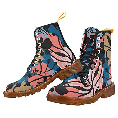 InterestPrint Floral Seamless Pattern Print Lace Up Boots For Men 60XsPg