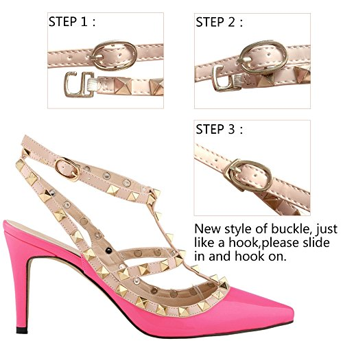 High Party Heels Ladies Shoes Wedding Count Rose Pump Loslandifen PBRfqzn5xx