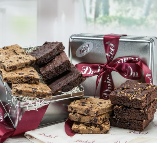 Dulcet Gourmet Chocolate Brownie Fudge Gift Basket, Great Gift – Includes: Chocolate Brownies, Walnut Brownies, Chocolate Chip blondes, ideal gift idea (Dessert Gift Ideas)