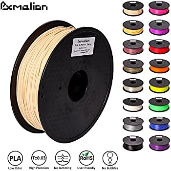 Pxmalion PLA 3D Filament, Skiny, 1.75mm, Accuracy +/- 0.03mm, Net Weight 1KG(2.2LB), Compatible with most 3D Printer & 3D Printing Pen