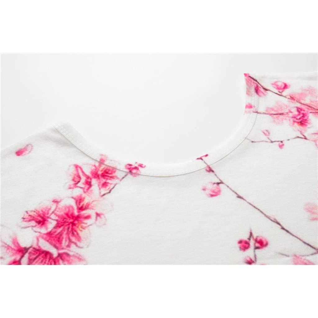 Lazzboy Donna T-Shirt Graffiti//Stampa//Animal//Flower Manica Corta O Neck Top Taglia 36-42 Laides Daily Blouse