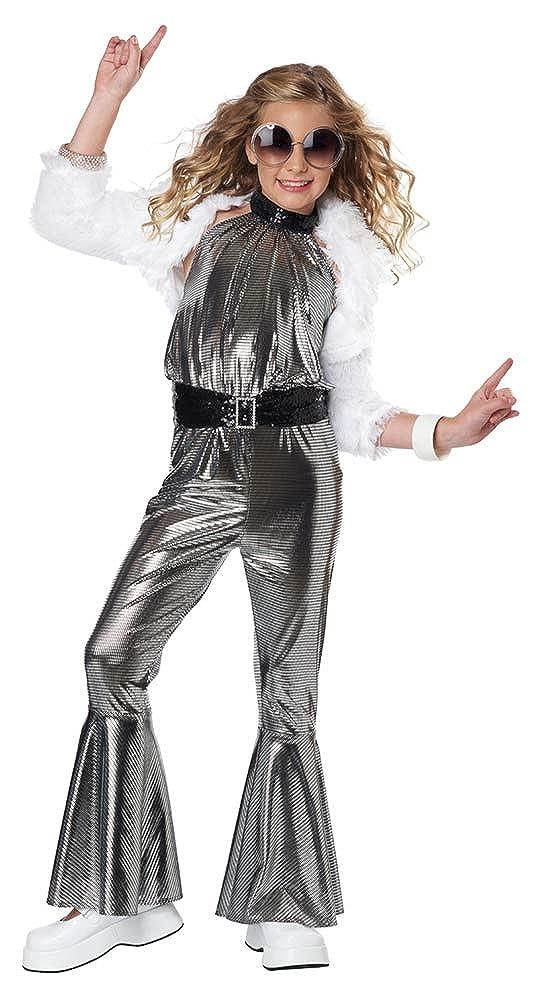 Amazon.com: Disfraz de diva de discoteca para niñas Dancing ...