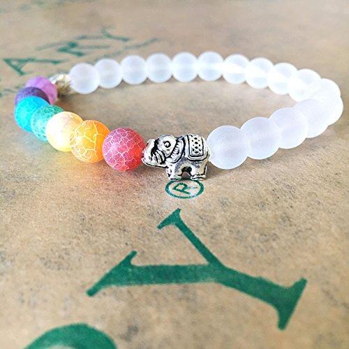 Gtvernh Energy Bracelet  Yoga Energy Bracelet  8Mm Hand String  Weathered Colorful Agate  Unisex