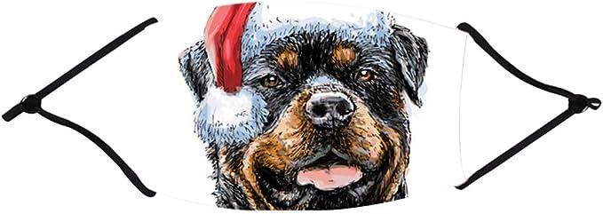 KIACIYA Mundschutz mit Motiv Weihnachten Grinch 3D Druck Lustig Motive Mund und Nasenschutz Waschbar mit 2 Filters Damen Herren Christmas Wiederverwendbar Multifunktionstuch Bandana Halstuch
