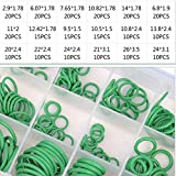 265pcs 18 Girds Rubber O Ring Set O-Ring Assortment Seal Kit for Automotive A/C AC Conditioner Pipe Hydraulics Air Gas HVAC R134a R12 Green 18 Different Sizes