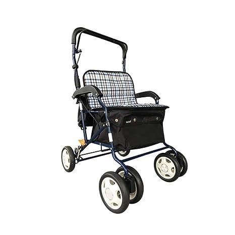 AA-SS-Elderly Standard Walkers Ancianos estándar Andadores Carrito de la Compra El Carrito