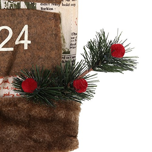 TOPINCN Christmas Hanging Calendar Christmas Decoration Festival Countdown with 24 Drawers Door Wall Ornament Decoration(Santa Claus) by TOPINCN (Image #6)