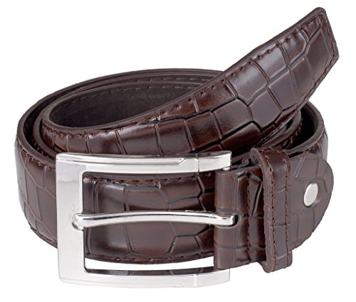 sportolir-mens-classic-genuine-leather-crocodile-uniform-belt-brown-medium