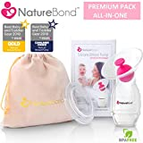 NatureBond Silicone Breastfeeding Manual Breast Pump...