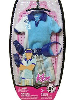 Ken Fashion Clothing Polo and Board Short Tennis Theme