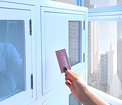 Hidden behind the cabinet door concealed RFID cabinet lock