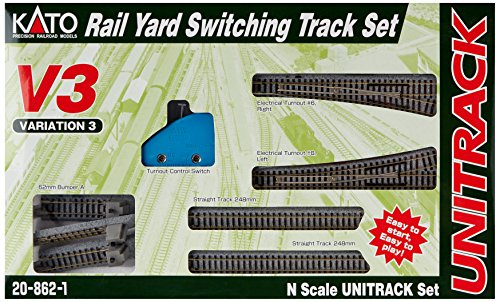 Kato USA Model Train Products V3 UNITRACK Rail Yard Switching Set