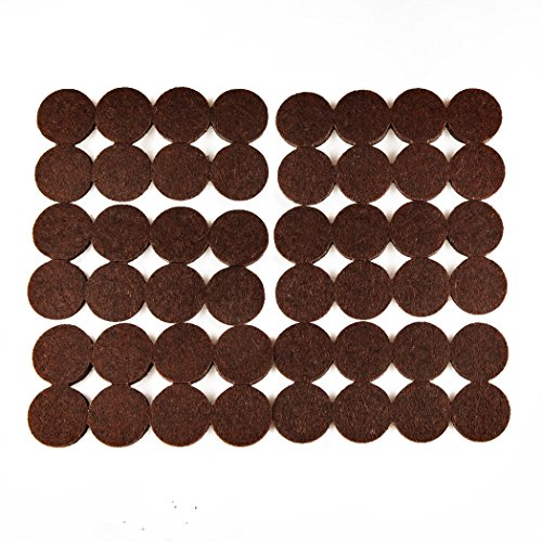 48 Pack Felt Pads 1 Inch Furniture Pads Protect Your Wood Floor Laminate Flooring Hard Surface Brown (1 Furniture)