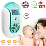 Mosquito Repellent, Electronic Ultrasonic Pest Repeller Variable Frequency Mouse Pest Repellent Effective Indoor Home Plug-in Bug Repellent Pest Control for Wasp Squirrel Roach Rodent Bedbug (BLUE)