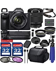 $2249 » Sony Alpha a7 III Mirrorless Digital Camera with 28-70mm Lens (ILCE7M3K/B) Bundle with Battery Grip & Accessory Package Including 64GB Memory, Spider Vlog Tripod & More (21 Pieces)