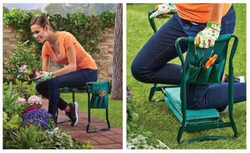 MYGARDEN Versatile 3-in-1 Garden Kneeler With Handles /& Handy Tool Bag Gardening Foldable
