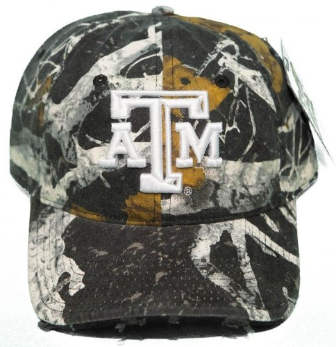 - NEW! Texas A&M University Aggies Buckle Back 3D Embroidered Mothwing Camo Cap