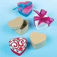 Baker Ross E3917 Lot de 8 boîtes de Loisirs créatifs en Forme de cœur Marron