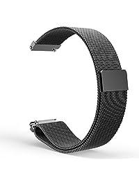 Gear S2 Classic Watch Band, MoKo Milanese Loop Stainless Steel Bracelet Smart Watch Strap for Samsung Gear S2 Classic SM-R732 & SM-R735 (NOT FOR S2 SM-R720, SM-R730), BLACK