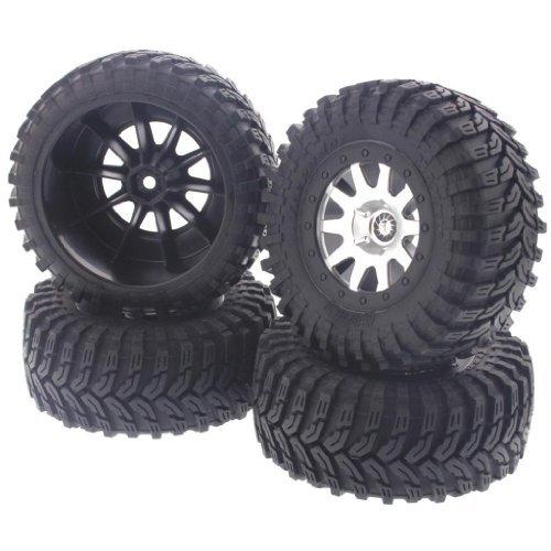 HPI Racing HPI 1/10 Blitz Front & Rear TREPADOR Tires, 10 Spoke Wheels & Foams 12mm -