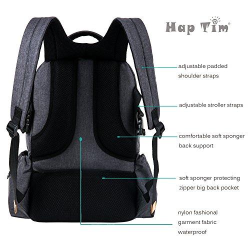 haptim multi function large baby diaper bag backpack w. Black Bedroom Furniture Sets. Home Design Ideas