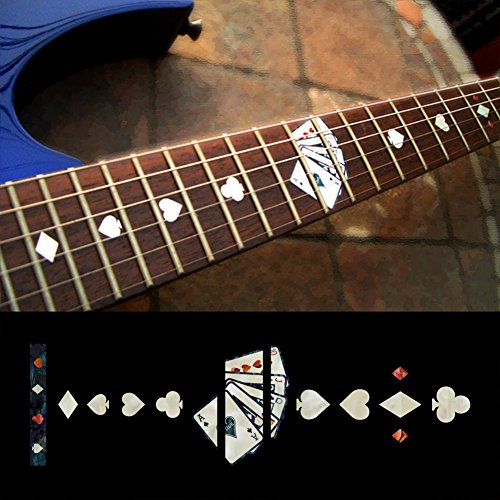 (Fretboard Markers Inlay Sticker Decals for Guitar - Playing Card - WP)
