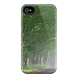 Defender Case With Nice Appearance (morning Mist Along The Green) For Iphone 4/4s