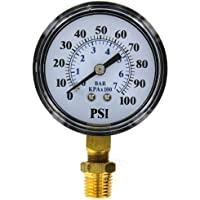 Brands2O TC2104-P2 Well Pump Pressure Gauge by Flotec