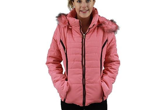 New Womens Ladies Short Puffer COAT Pink And Blue FUR HOODED Kids Teen WINTER  JACKET UK 4f40d8a05