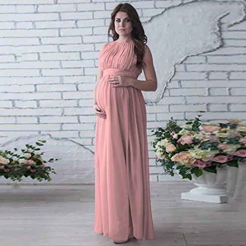 TPulling Schwangere Damen Kleider Frau Mode Minikleid Gedruckter ...