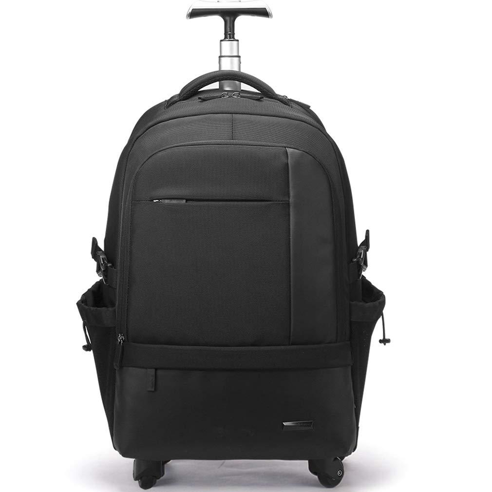 スタイリッシュな荷物、多機能ビジネストラベルトロリーバッグ、軽量大容量の旅行袋  ブラック B07GHDKZKN
