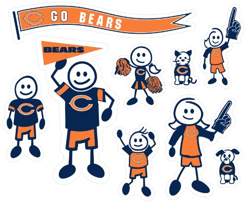 NFL Chicago Bears Large Family Decal Set (Large Chicago Bears Window Decal compare prices)