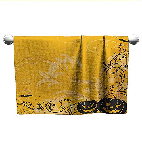 alisoso Halloween,Boys Towel Carved Pumpkins with Floral Patterns
