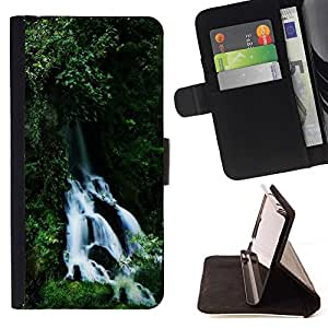 Momo Phone Case / Flip Funda de Cuero Case Cover - Cascada - Motorola Moto E ( 1st Generation )