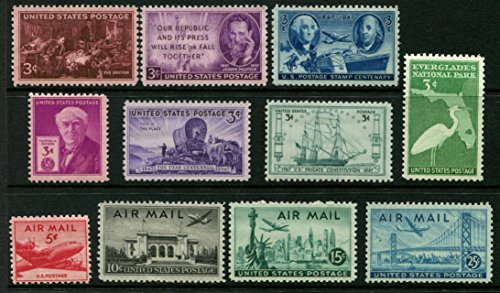 Complete Mint Set 1947 (Including Air Mail!) US Postage Stamps (Total 11 stamps)