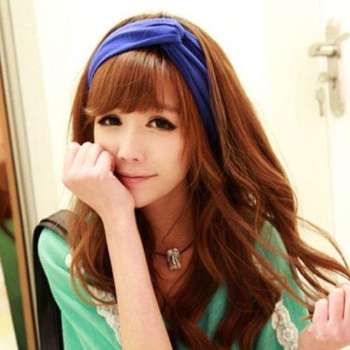 Amazon.com   eKingstore Women Turban Twist Headband Head Wrap Twisted  Knotted Knot Soft headband (Blue)   Beauty e0590e11949