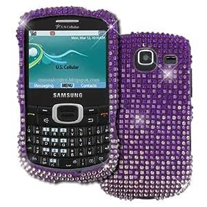 Empire - Carcasa para Samsung Freeform R390, diseño de brillantes, color morado