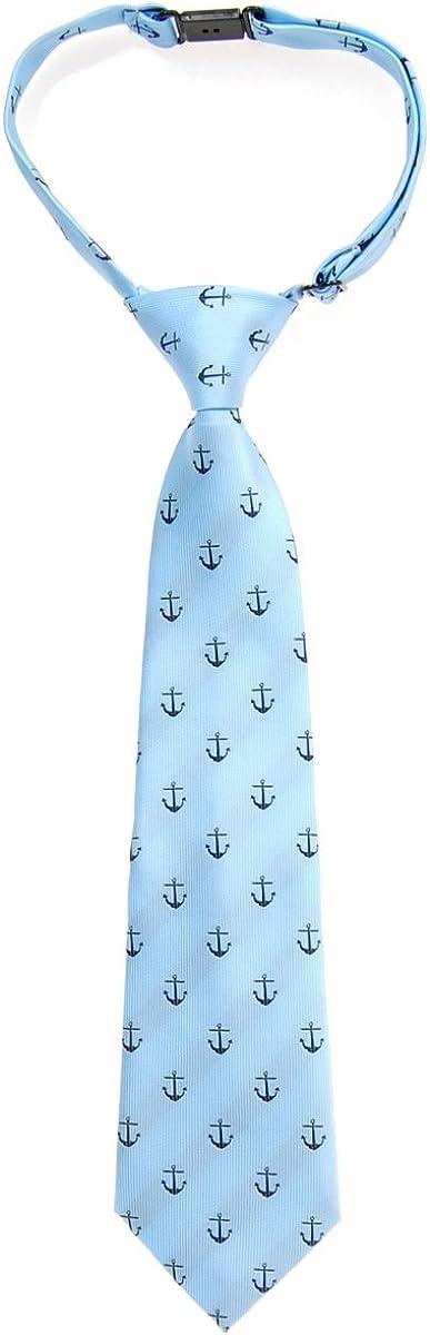 Retreez Vorgebundene Krawatte f/ür Jungen mit klassischem Anker-Muster aus gewebter Mikrofaser.