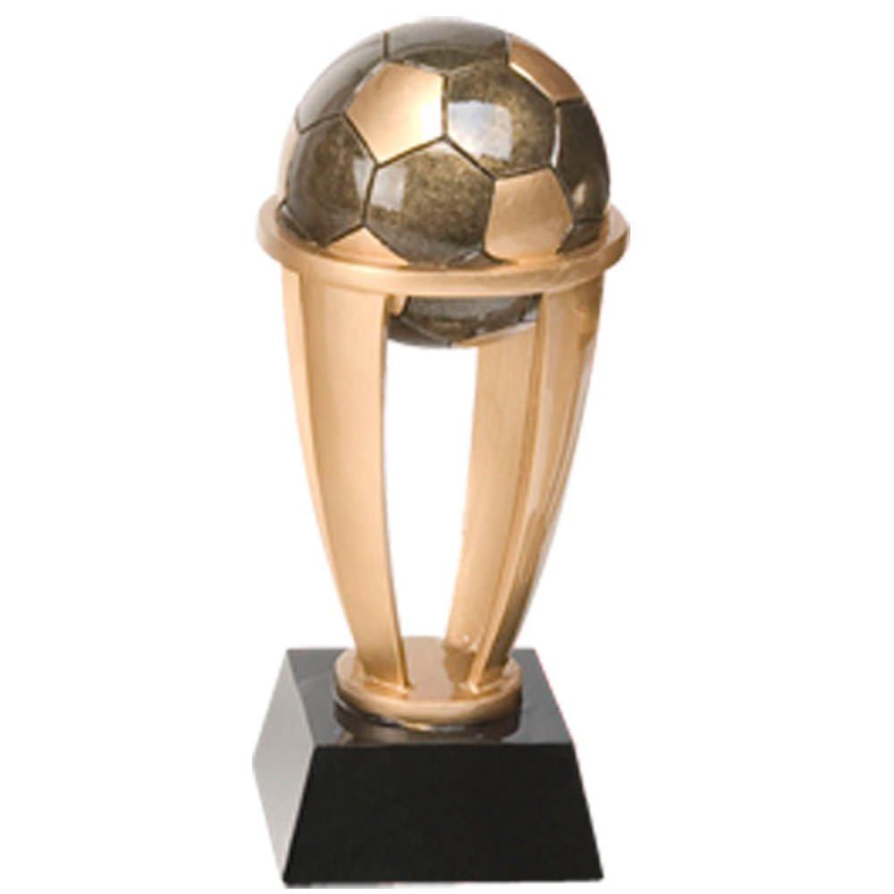 Decade Awards Soccer Ball Gold Tower Trophy - Futbol Award - 10.75 Inch Tall - Customize Now