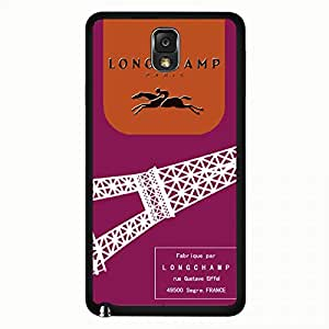LongChamp Logo Samsung Galaxy Note 3 Case,LongChamp Logo Phone Case Black Hard Plastic Case Cover For Samsung Galaxy Note 3