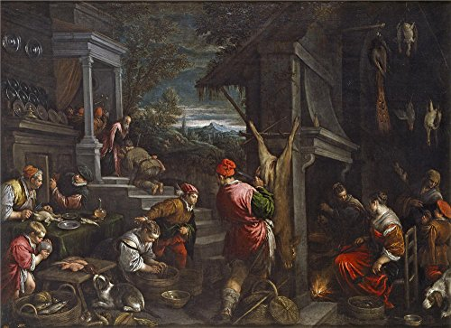Oil Painting 'Bassano Jacopo Bassano Francesco The Return Of The Prodigal Son Ca. 1570' 8 x 11 inch / 20 x 28 cm , on High Definition HD canvas prints, gifts for Bath Room, Gym And Living Room (Bassani Y-pipe)
